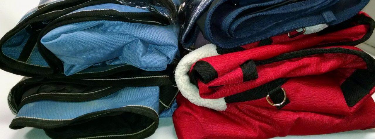 Rangement du matériel: les couvertures